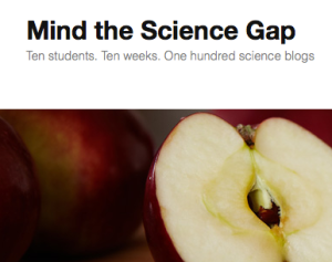 Screen Shot: Ming the Science Gap Blog