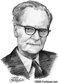 B.F. Skinner, Psychologist/Behaviorist. Founder of the Programmed Instructional method and the 'teaching machine'