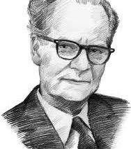 B.F. Skinner, Psychologist/Behaviorist. Founder of the Programmed Instructional method and the 'teaching machine'