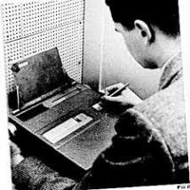 "Skinner's Teaching Machine. ""There is another kind of capital equipment which will encourage the student to take an active role in the instructional process. Like a good tutor, the machine insists that a given point be thoroughly understood, either frame by frame or set by set, before the student moves on."" (Skinner, 1958)"